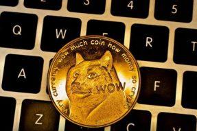 """随着互联网用户搜索""""如何购买狗狗币"""",狗狗币价格继续飙升"""